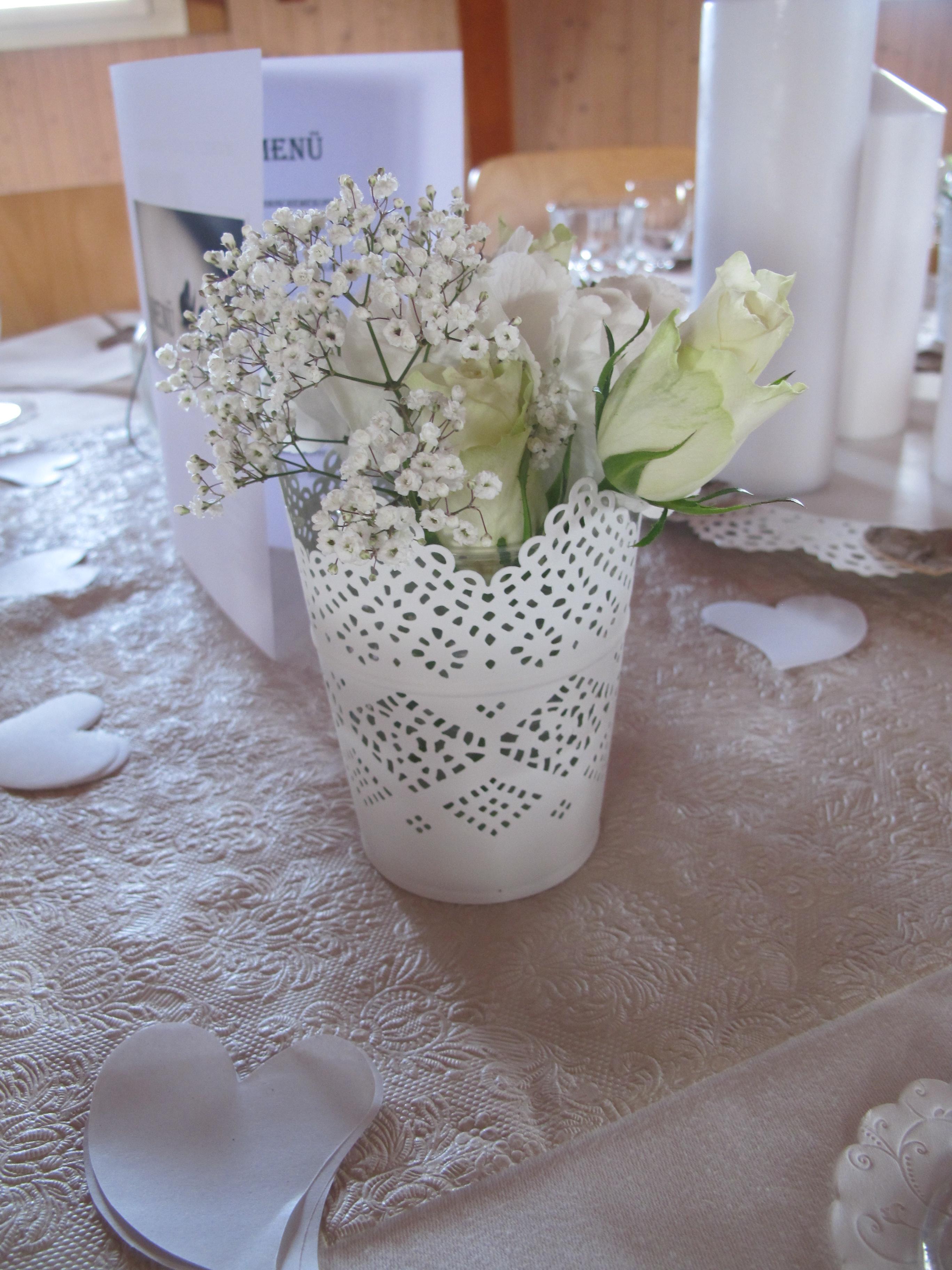 Teelichthalter vase dekotella for Deko mieten